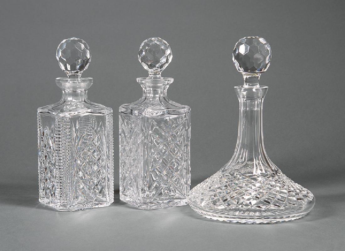 Two Tipperary Crystal Decanters
