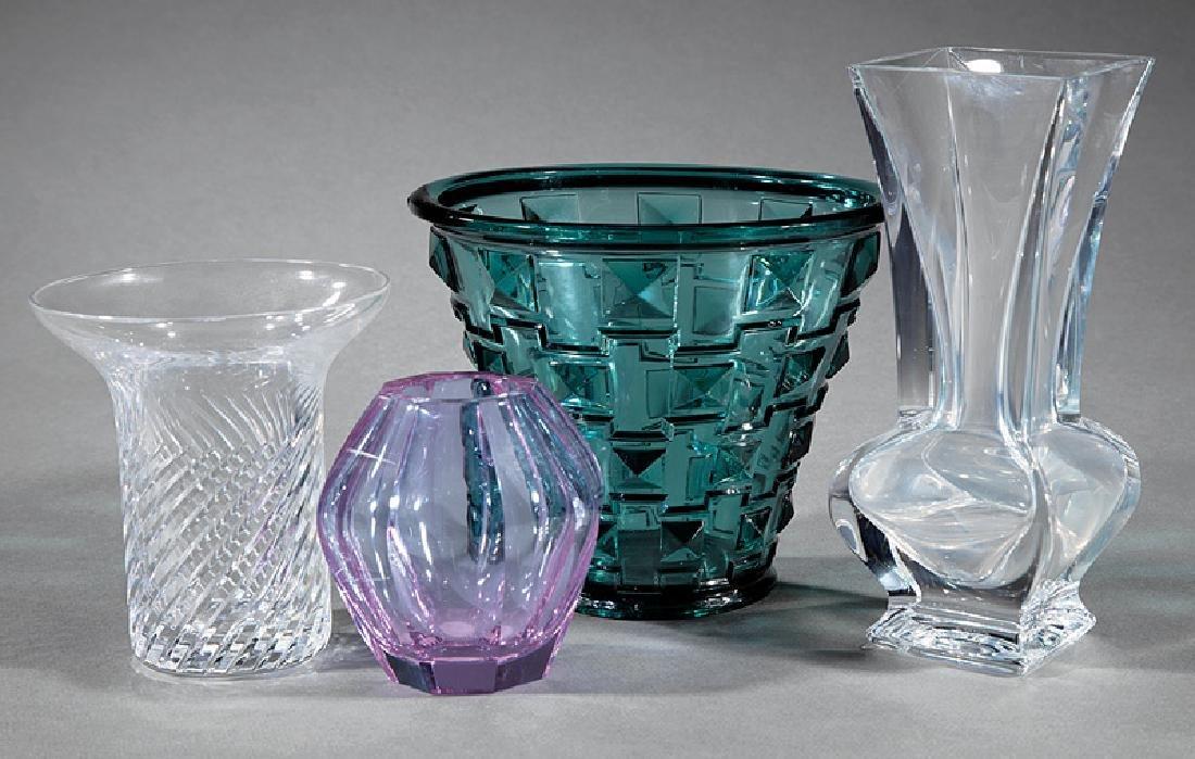 Three Continental Art Glass Vases
