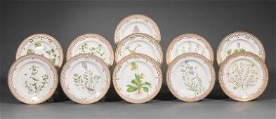 Royal Copenhagen Porcelain Dinner Plates