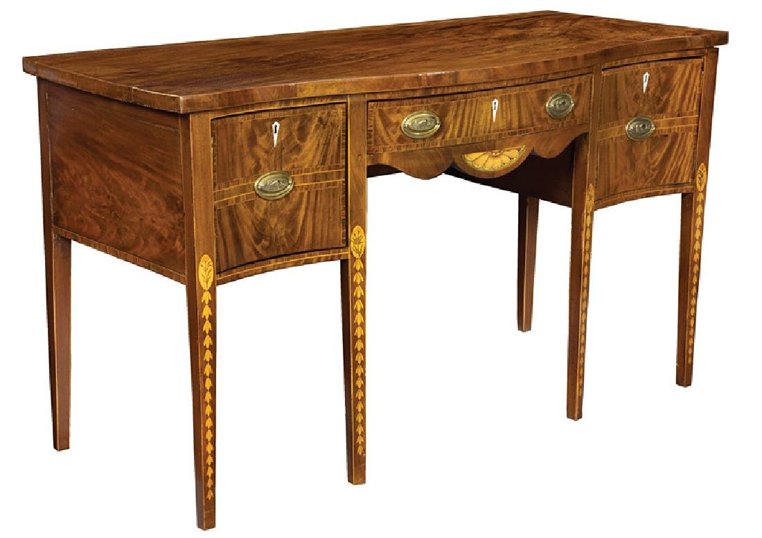 George III Inlaid Figured Mahogany Sideboard