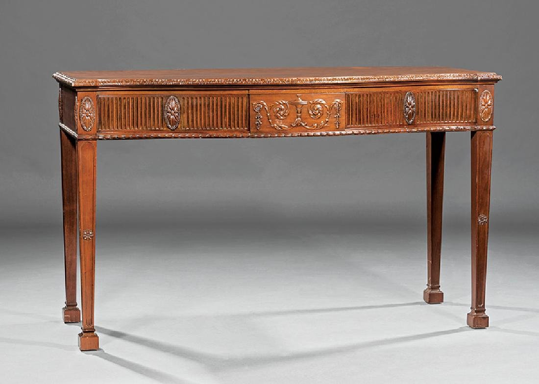 George III-Style Carved Mahogany Serving Table