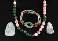 Chinese Hardstone Jewelry