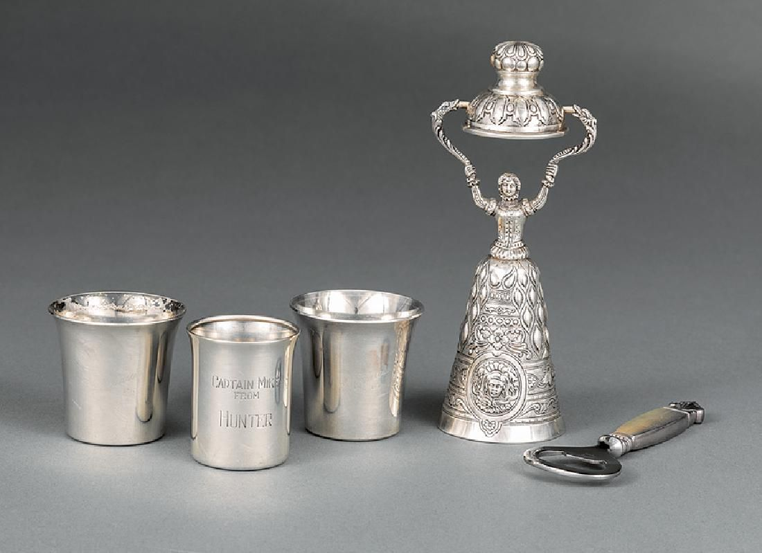 Group of Sterling Silver Bar Accoutrements
