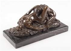 Patinated Bronze Erotic Figural Group