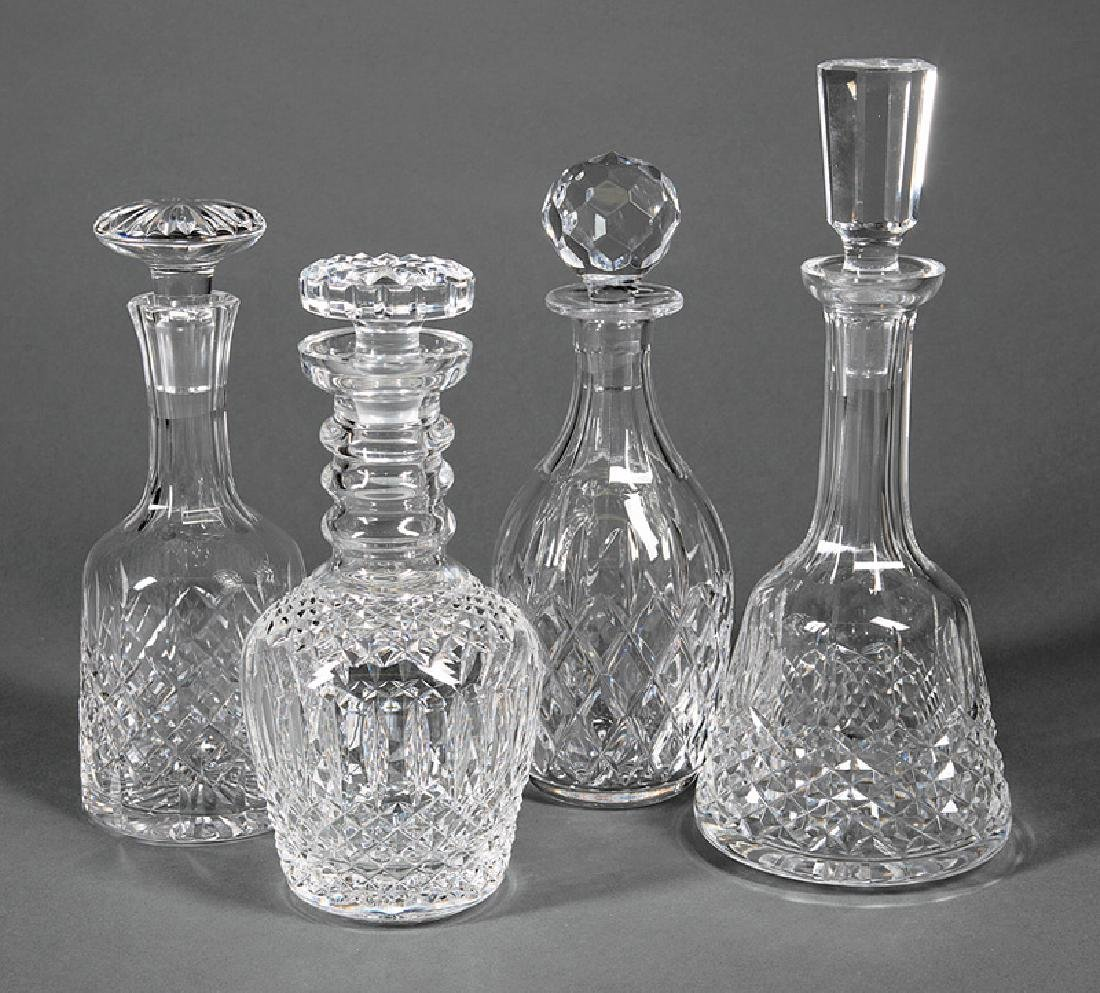 Group of Cut Crystal Decanters