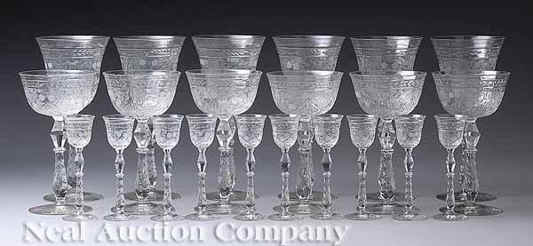 0003: American Cut Glass Stemware