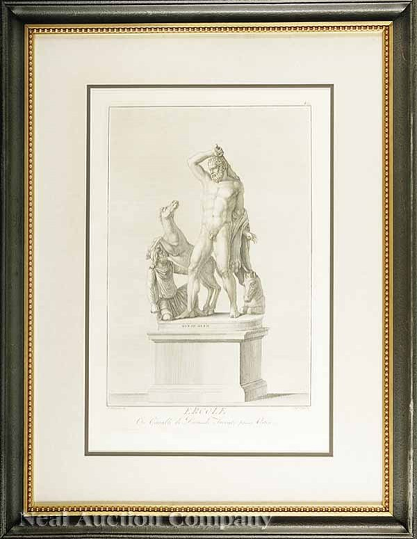 0010: Five Copper Engravings of Classical Statues
