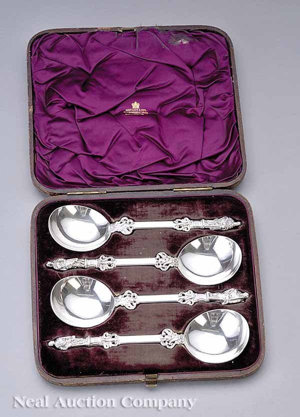 0021: Victorian Sterling Silver Apostle Spoons