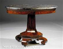 American Classical Carved Mahogany Center Table