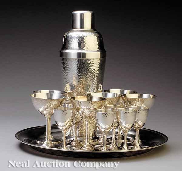 0668: Japanese Silver Cocktail Set