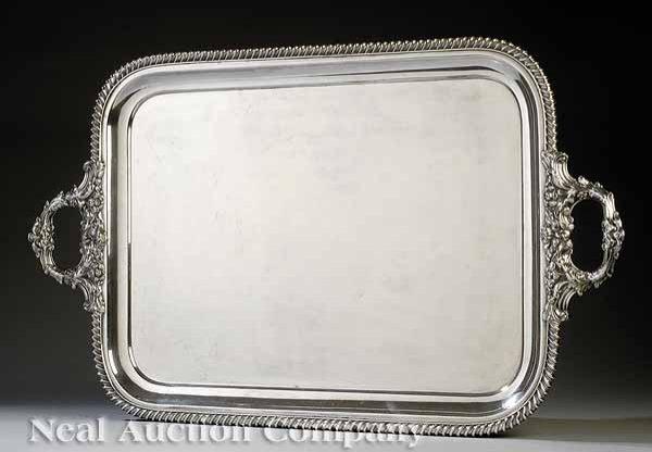 0672: Regency Sheffield Plate Tea Tray