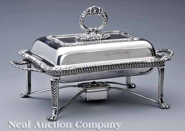 0674: Silverplate Covered Entree Dish on Stand