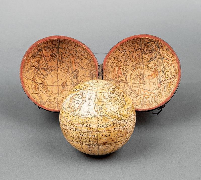 George II Two and a Half Inch Pocket Globe