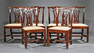 Carved Mahogany Dining Chairs