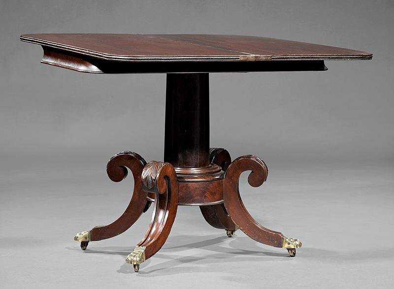 Carved Mahogany Games Table