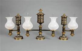 Messenger  Sons Argand Lamp Garniture