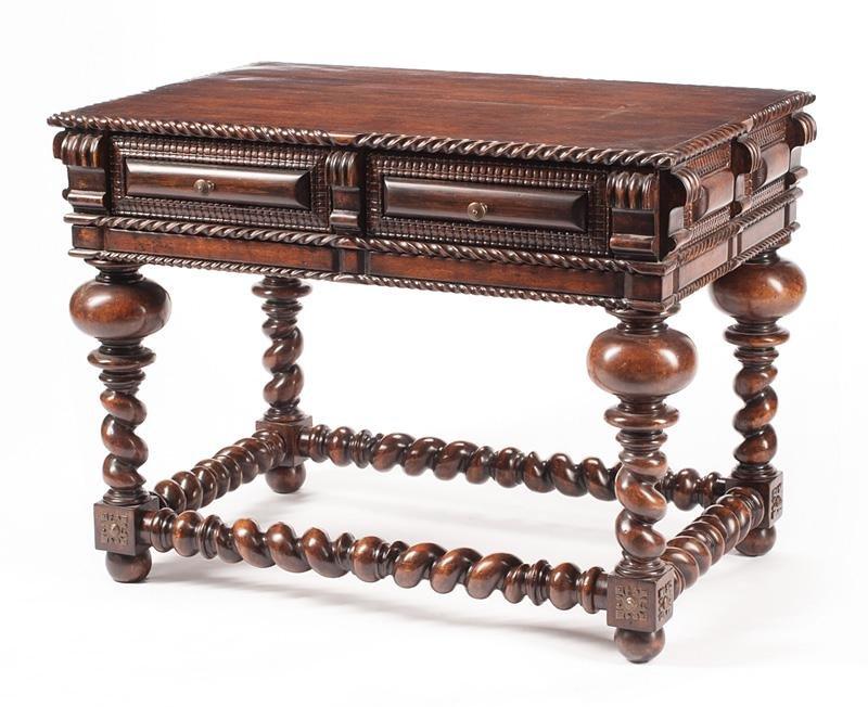 Renaissance-Style  Hardwood Side Table