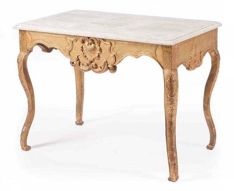 Neoclassical Carved Giltwood Salon Table