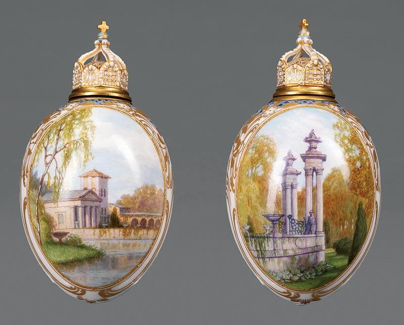 Polychrome and Gilt Porcelain Vessels