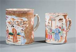 Two Chinese Export Porcelain Tankards