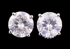 White Gold and Diamond Stud Earrings