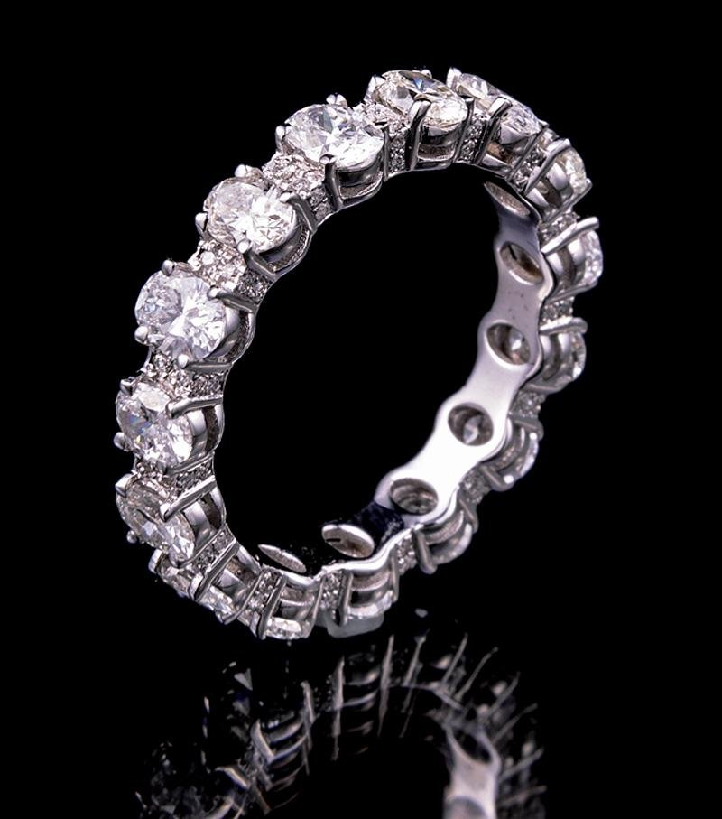 Gold and Diamond Eternity Band Ring