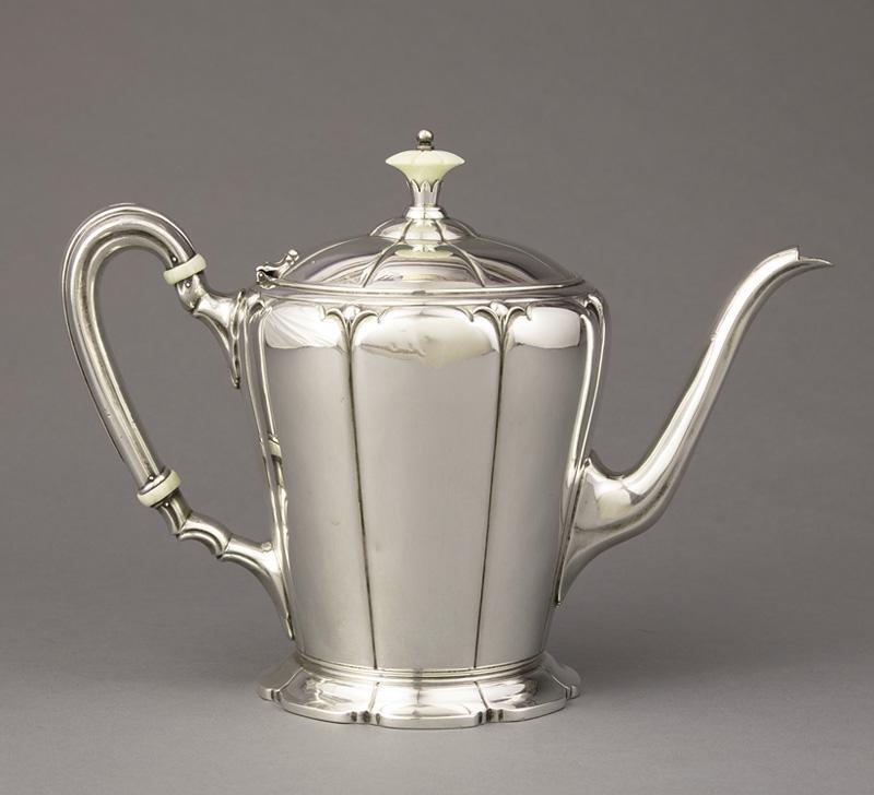 American Art Deco Sterling Silver Teapot