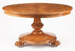 Burl Wood Tilt-Top Breakfast Table