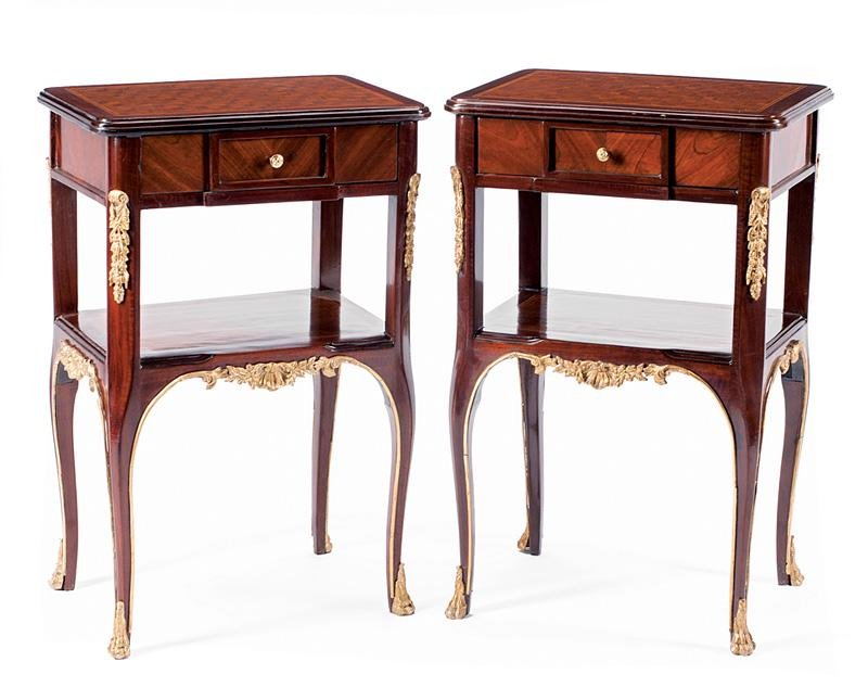 Bronze-Mounted Mahogany Side Tables