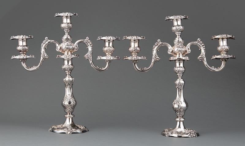 Reed & Barton Silverplate Candelabra