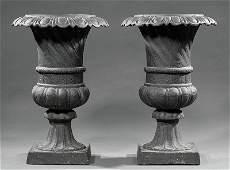 American Cast Iron Garden Urns