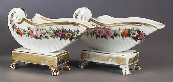 0002: A Pair of Paris Porcelain Shell-Form V