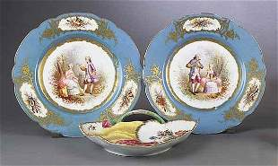 A Meissen Porcelain Polychrome and Gil