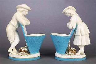 A Pair of English Minton Porcelain Fig