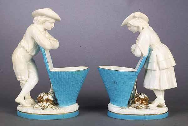 0004: A Pair of English Minton Porcelain Fig