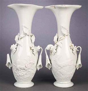 """A Pair of French """"Blanc Fixe"""" Porcelai"""