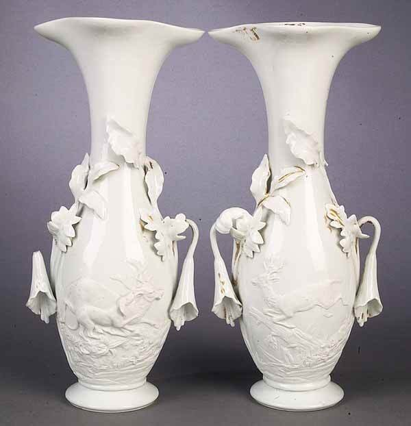 """0005: A Pair of French """"Blanc Fixe"""" Porcelai"""