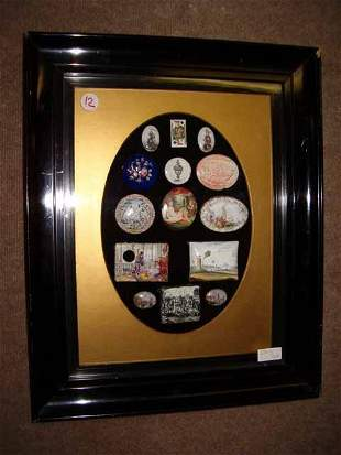 A Framed Collection of English Batters