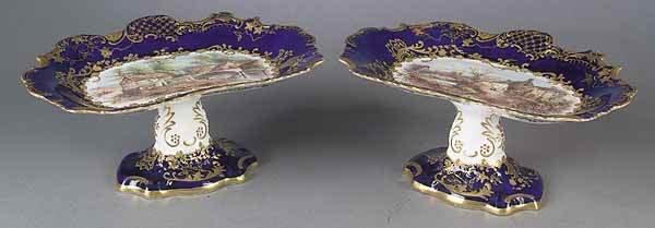 0015: A Pair of English Porcelain Tazzas