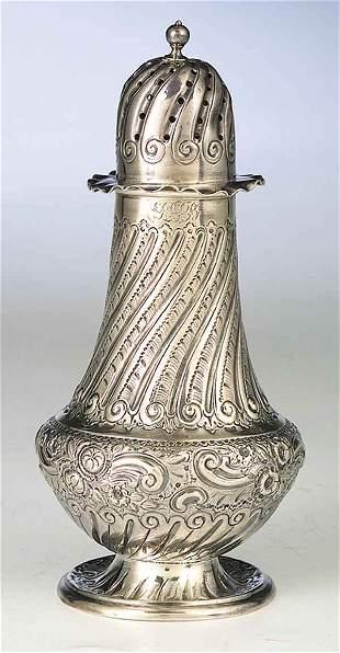 A Late Victorian Sterling Silver Sugar
