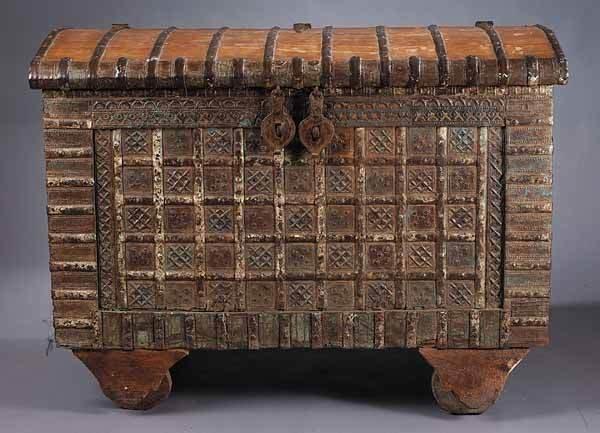 0792: A Large Antique Far Eastern Hardwood a