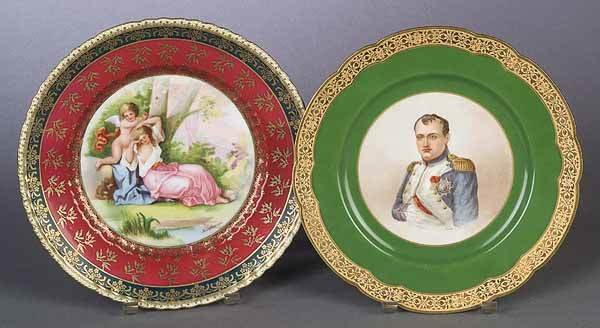 0801: Two French Porcelain Cabinet Plates