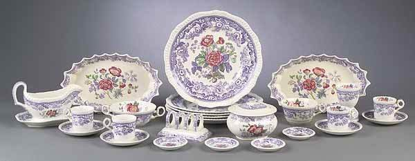 "0973: A Copeland Spode ""Mayflower"" Pattern D"