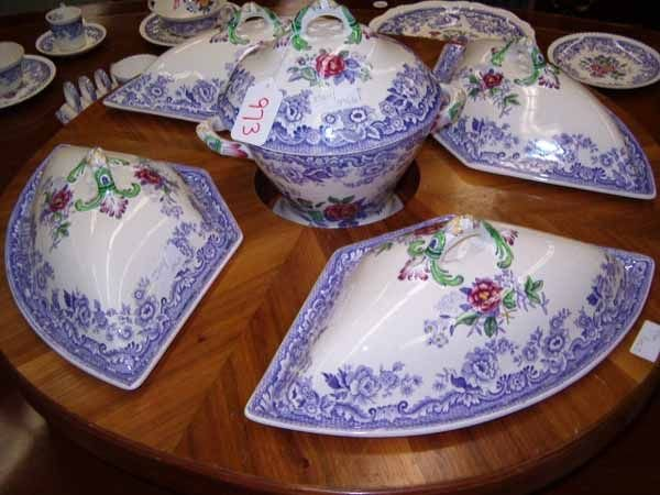 "0973: A Copeland Spode ""Mayflower"" Pattern D - 5"