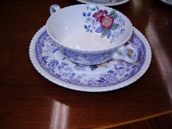 "0973: A Copeland Spode ""Mayflower"" Pattern D - 6"