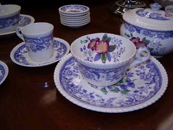 "0973: A Copeland Spode ""Mayflower"" Pattern D - 7"
