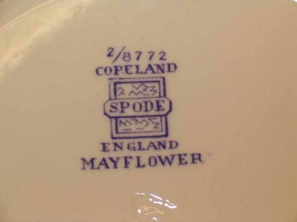 "0973: A Copeland Spode ""Mayflower"" Pattern D - 8"