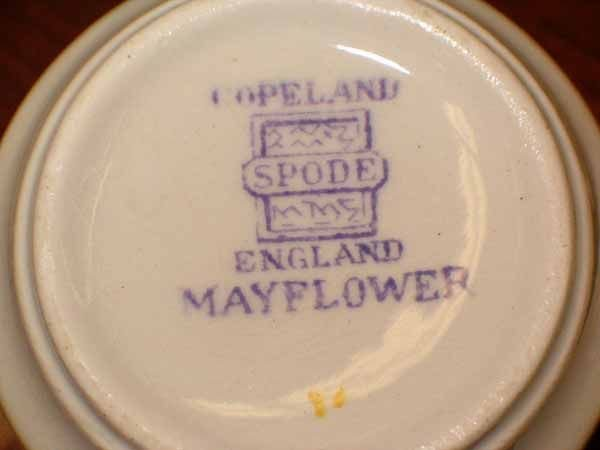 "0973: A Copeland Spode ""Mayflower"" Pattern D - 9"