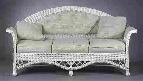 1268: A Suite of Vintage Wicker Furniture