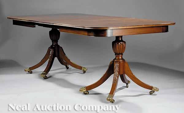 0012: Duncan Phyfe Federal-Style Mahogany Dining Table